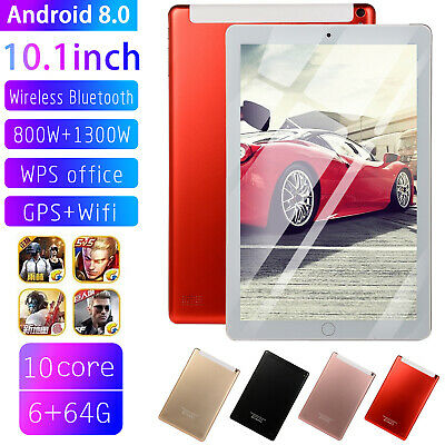 10.1'' Tablet 8G+128G Android 8.0 Bluetooth 3G WiFi PC Dual Camera GPS Phablet
