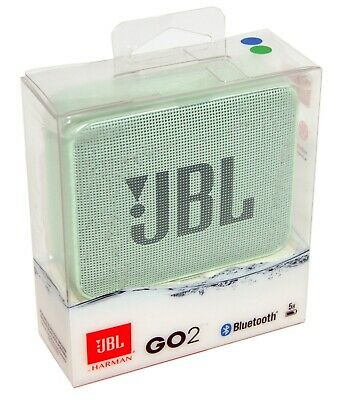 JBL GO2 GO 2 Portable Bluetooth Wireless Speaker Waterproof Mint Green - NEW