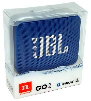 JBL GO2 GO 2 Portable Bluetooth Wireless Speaker Waterproof Blue iPhone - NEW