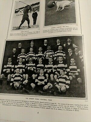 1907 The Tattler Magazine Cardiff Rugby Union Team Sporting Supplement