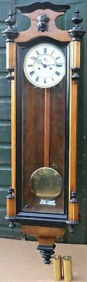 Large Very Clean Looking Double Weighted Vienna Type Regulator Wall Clock
