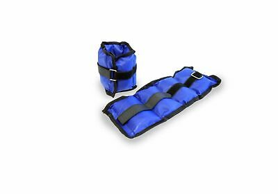 2Kg Ankle Weights Pair Body Strength Training Fitness Running Wrist straps Gym