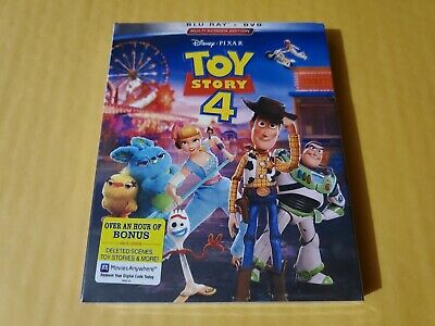 Toy Story 4 (Blu-Ray and DVD, 2019) Brand New USA Fast Free Shipping!