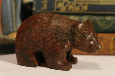 Antique Swiss Black Forest Hand Carved Bear Early 20thC. C.1915 Superb Condition