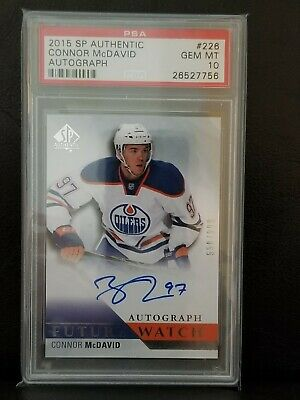 2015-16 Connor Mcdavid Future Watch Auto Sp Authentic Psa 10 Gem Mint Rookie