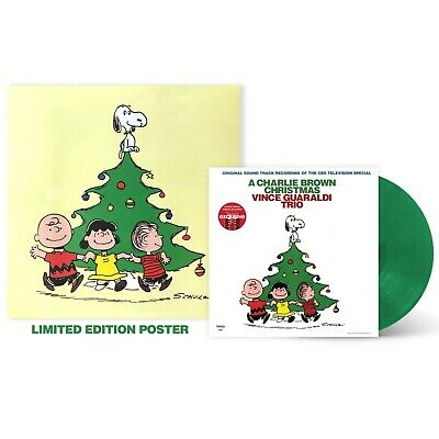 SEALED - Vince Guaraldi - A Charlie Brown Christmas [Green Vinyl LP] + Poster