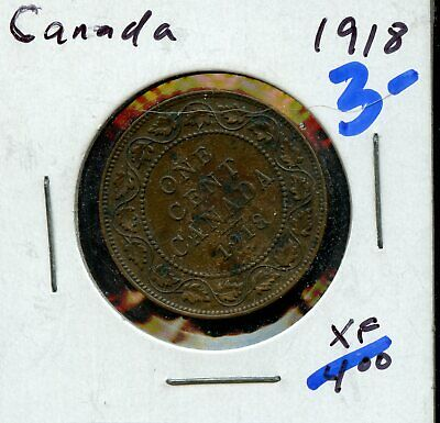 1918 Canada Large Cent Canadian Coin FN480