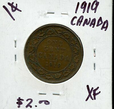 1919 Canada Large Cent Canadian Coin FN482