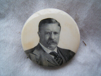 theodore roosevelt for president political pin back pinback campaign button 1909