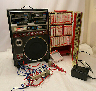 Japanese Classic VINTAGE SANYO KARAOKE MACHINE TAPE DECK Microphone Works 1980s