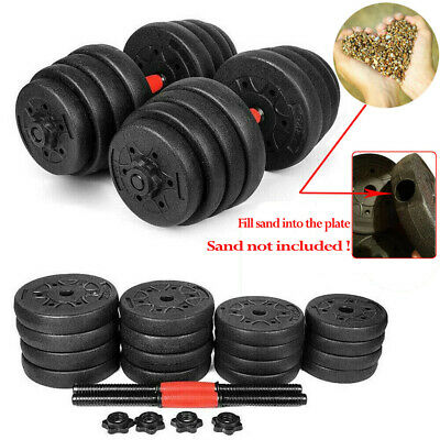 Empty New Weight Dumbbell Set Adjustable Cap Gym Barbell Plates Body Workout
