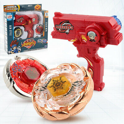 4D Beyblade Set Metal Fusion Top Rapidity Toys Masters Launcher Grip Kids Gift