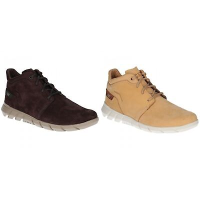 CAT CATERPILLAR Transcend P718990 Leather Sneakers Casual Shoes Boots Mens New