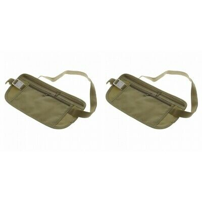 2-Pack Waist Belt Bag Travel Pouch For Hidden ID Passport Security Money Safety