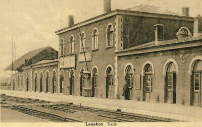 Reproduction photo d'une carte postale de la gare de Lanaken