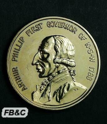 1988 Australian Bicentenary Medal - Fleet Arrived - Arthur Phillip