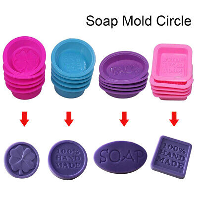 DIY Handmade Silicone Soap Mold Square Oval Making Baking Cupcake Craft Mould