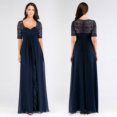 Ever-Pretty UK Plus Size Lace Short Sleeve Evening Dresses Chiffon Cocktail Gown