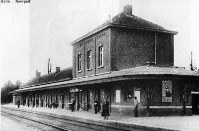 Reproduction photo d'une carte postale de la gare de Neerpelt