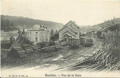 Reproduction photo de la carte postale de la ligne vicinale de Bouillon