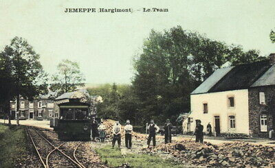 Reproduction photo de la carte postale de la gare de Jemeppe-Hargimont