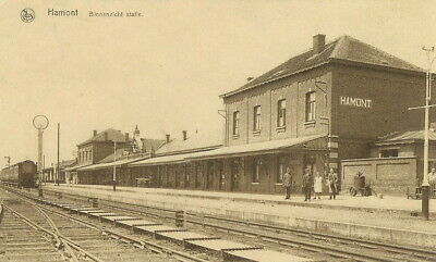 Reproduction photo de la carte postale de la gare de Hamont