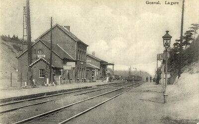 Reproduction photo de la carte postale de la gare de Genval