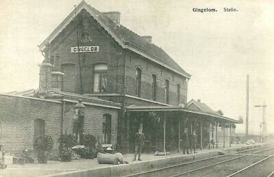Reproduction photo de la carte postale de la gare de Gingelom
