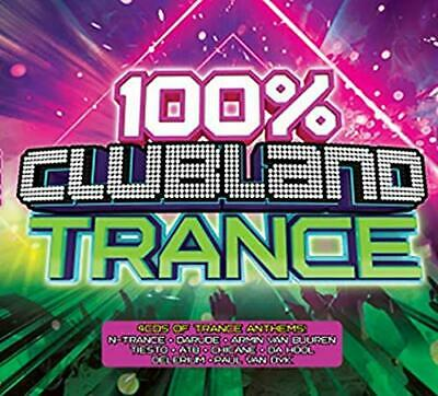 100% CLUBLAND TRANCE 4 CD - Various Artists (Released November 22nd 2019)