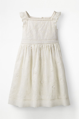 NEW RRP £51.00 mini boden Ivory Embroidered Dress                          (U21)