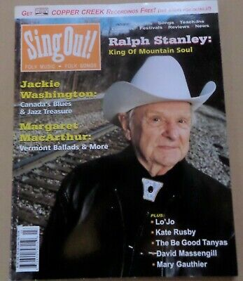 Sing Out Magazine FALL 2002 Folk Music-RALPH STANLEY COVER MOUNTAIN SOUL songs