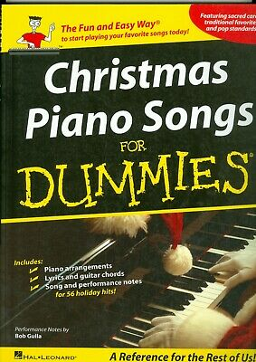 Christmas Piano Songs for Dummies Sheet Music Piano Vocal Guitar SongB 000311387