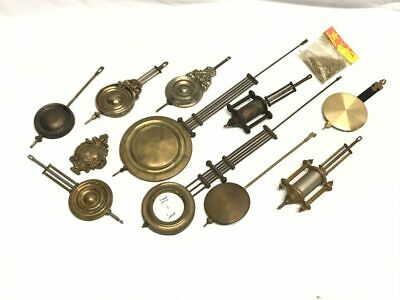Many Antique Clock Movement Pendulums, Cuckoo Chain, Parts & Repair| 21646