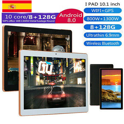 10.1'' Tableta Android 8.1 Ten core 8+128GB WiFi 4G 13MP Cámara Tablet PC 2 SIM