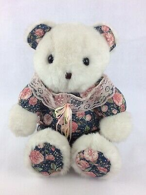 """Cuddle Wit Large Rose patterned Teddy Bear Soft Plush Toy Animal 20"""" Collectible"""