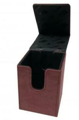 Ultra Pro Card Protection Suede Alcove Tower Deck Box - Ruby MINT