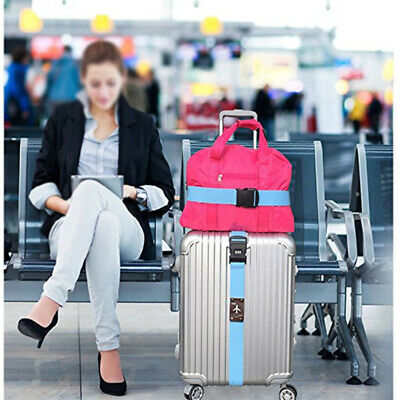 Adjustable Suitcase Cross Luggage Strap With Safe Lock Baggage AU STOCK