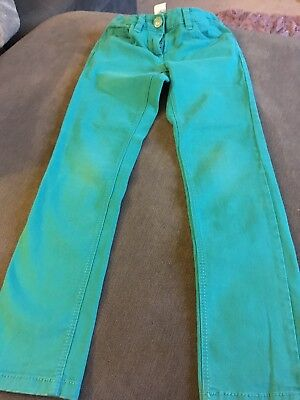 Next Girls Green Trousers Size 8 Years Good Condition
