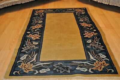 ON SALE 3x5 ft. Antique Chinese Peking ART DECO19th century tribal Oriental RUG