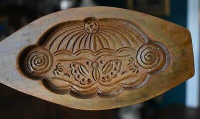 Antique Dutch 19Th Century Carved Wooden Cookie Mold Cake Mold #2