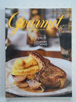 Gourmet Magazine Vintage January 2003 French Country Cooking