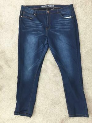 "VIP jeans perfect fit size 22 denim straight leg stretch 29"" inseam distressed"