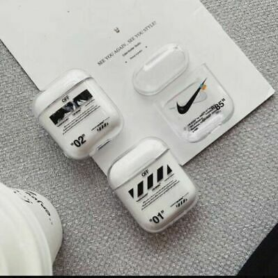 "2019 New Off-White Hype Luxury Inspired AirPods 1 2 Case Headset nike ""85"" Cover"