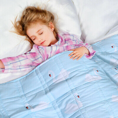 Gravity Weighted Blanket For Kids Home Heavy Blanket Deep Relax Sleeping 10IBs