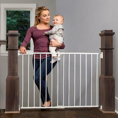 Gate Baby Safety Mounting Kit Pet Top Stairs Wide Extra Stairway Hallway Indoor