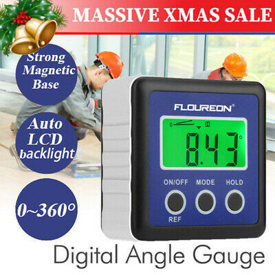 Digital Gauge Bevel Box Angle Finder Protractor Inclinometer Meter Magnetic