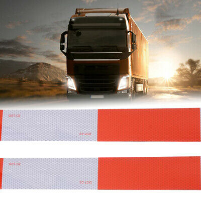 Car Truck Body Reflective Tape Caution Warning Conspicuity Safety Sticker 9cm