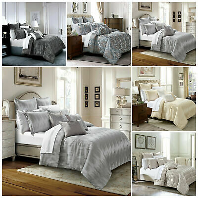 Luxury Jacquard Quilted Bedspread Bedding Set With Pillow Case Double King Size