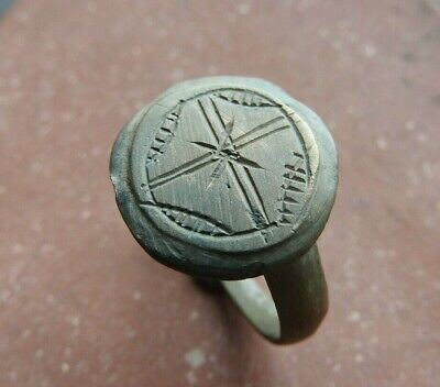 Ring with a cross, the early Middle Ages 14-16 AD size 21mm