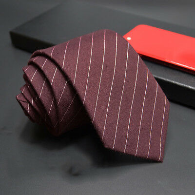 Vintage Style Polyester Yarn Necktie Stripe Styles for Business Wedding Party BS